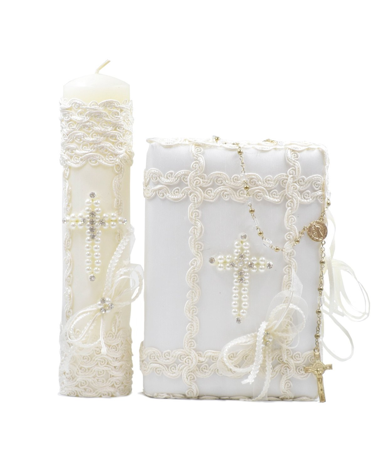 First Communion Kit Model Pearl Cross