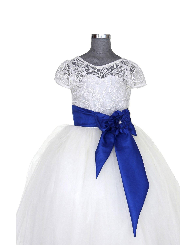 Vestido De Niña Modelo Sasha Fajo De Color Creaciones Maylin