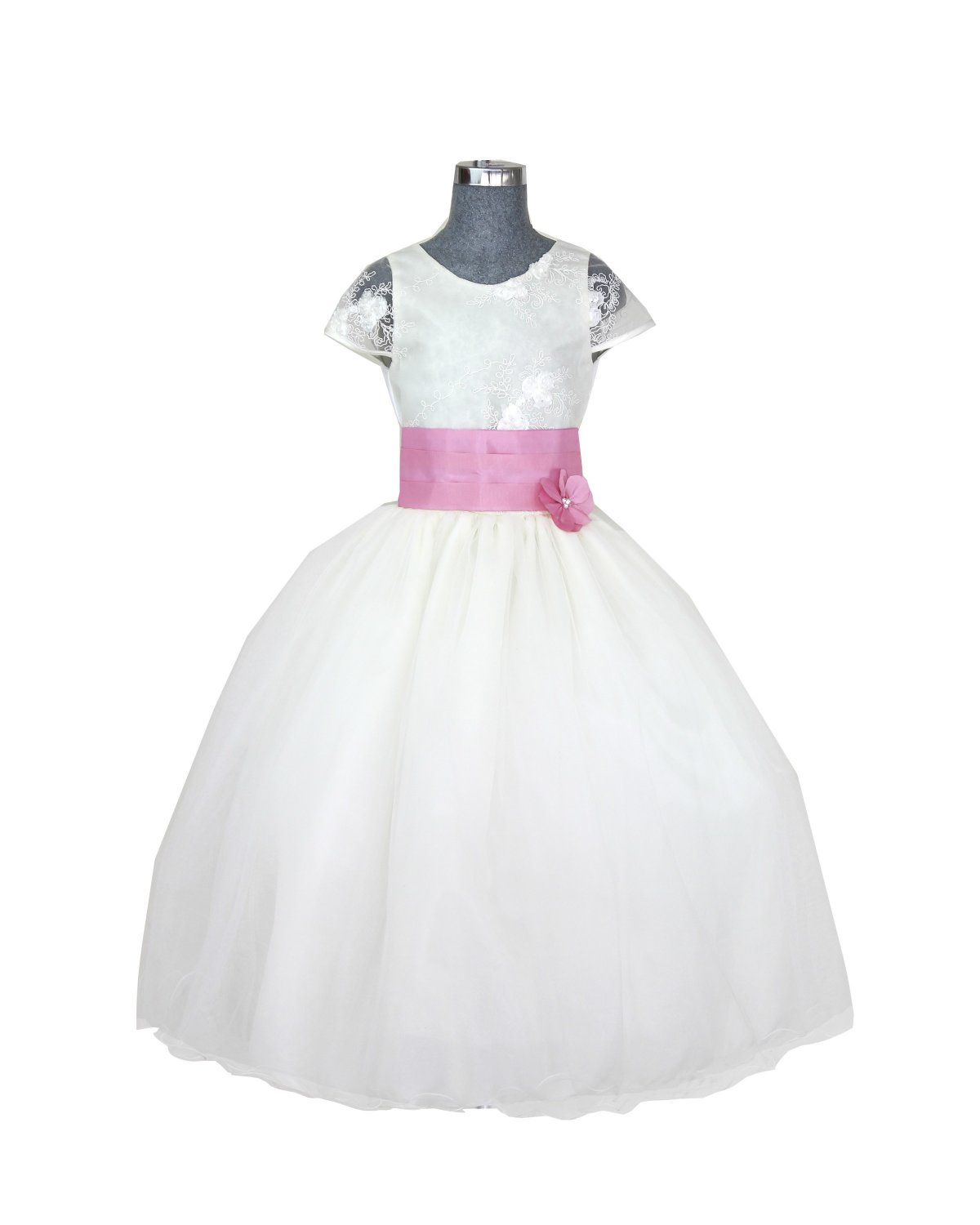 Girl dress Model Rosy Belt with Color